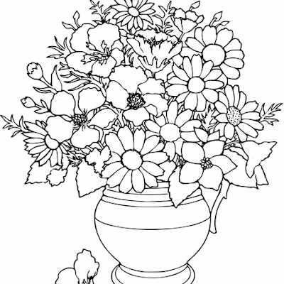 Simple Flower Coloring Pages Free