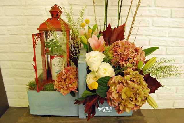 El centro de flores más bonito