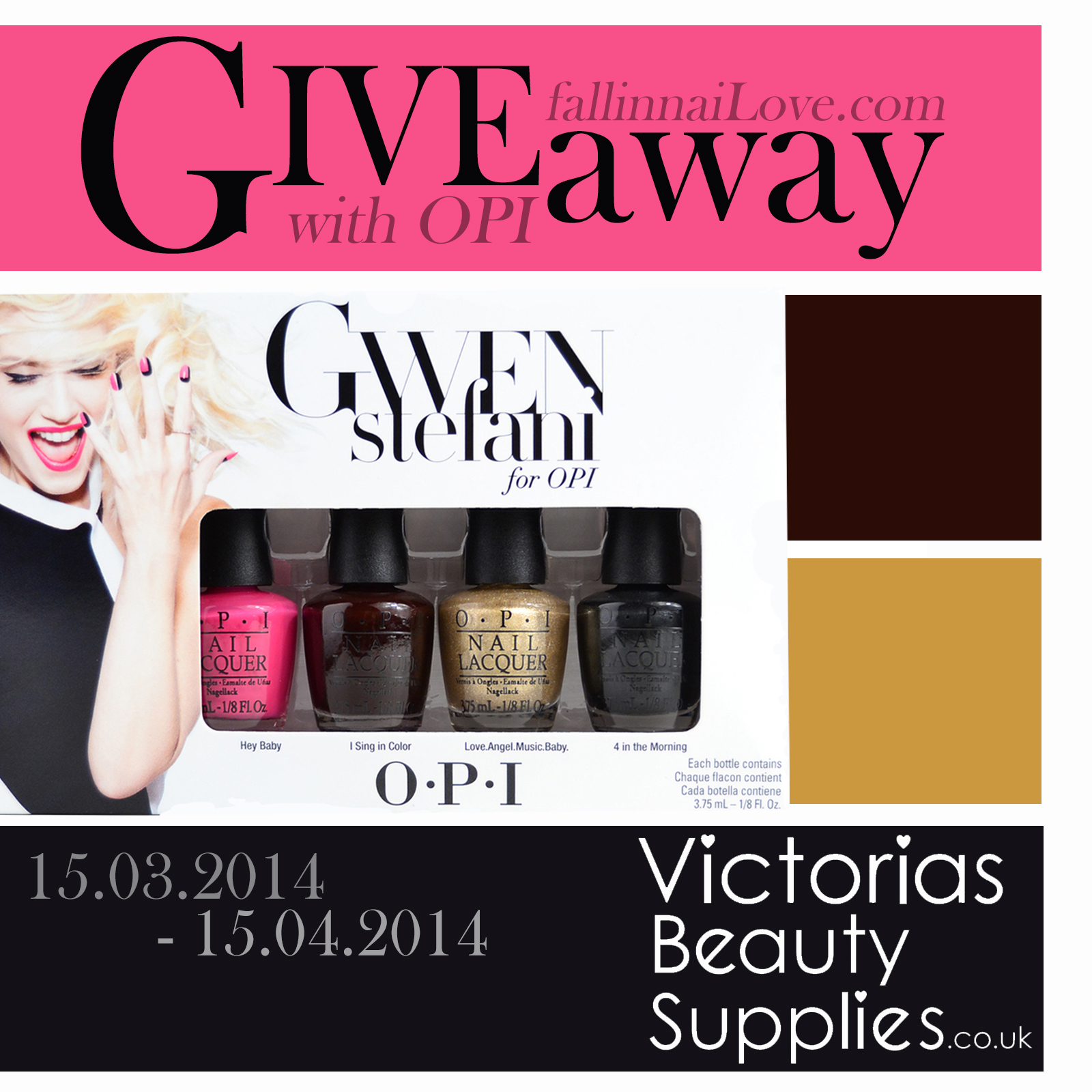 Gwen Stefani for OPI giveaway u Fall in... naiLove !