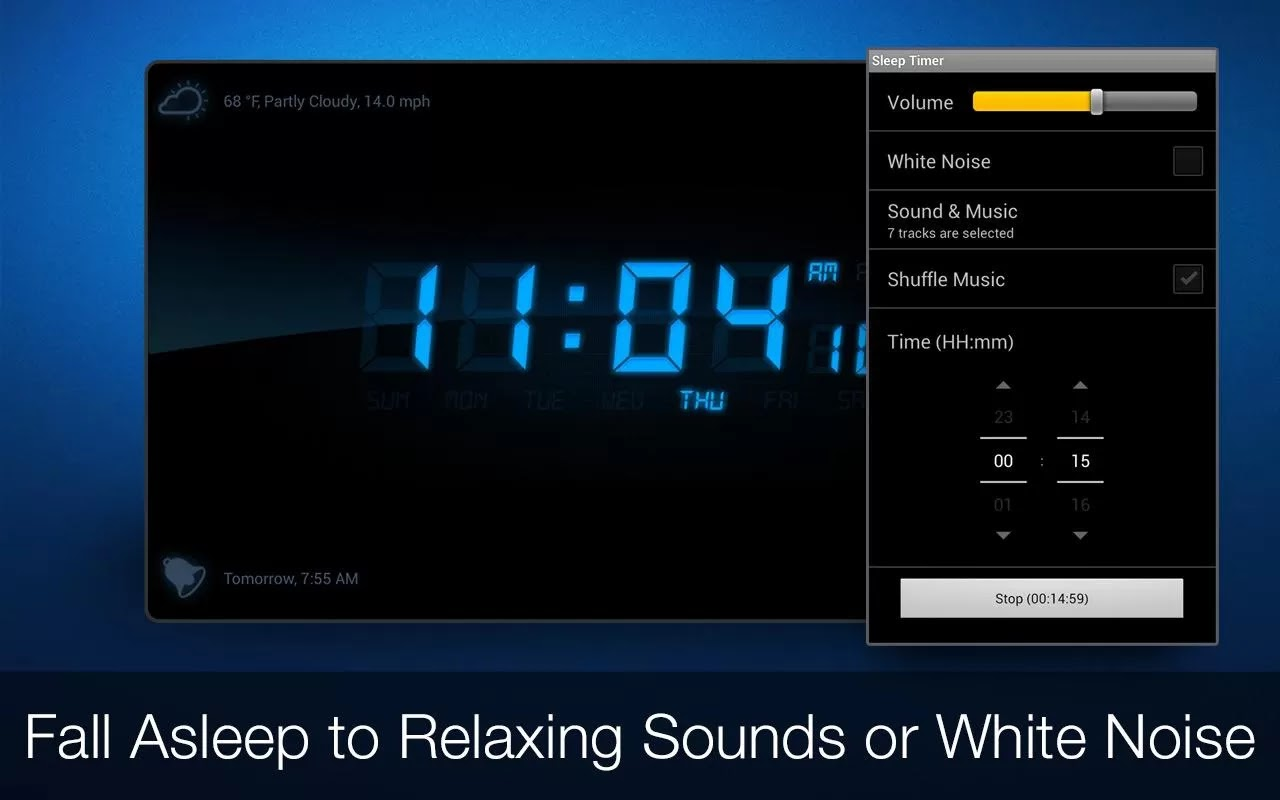 how to download alarm tomes android