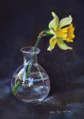 painting of a daffodil by Jaosn Waskey
