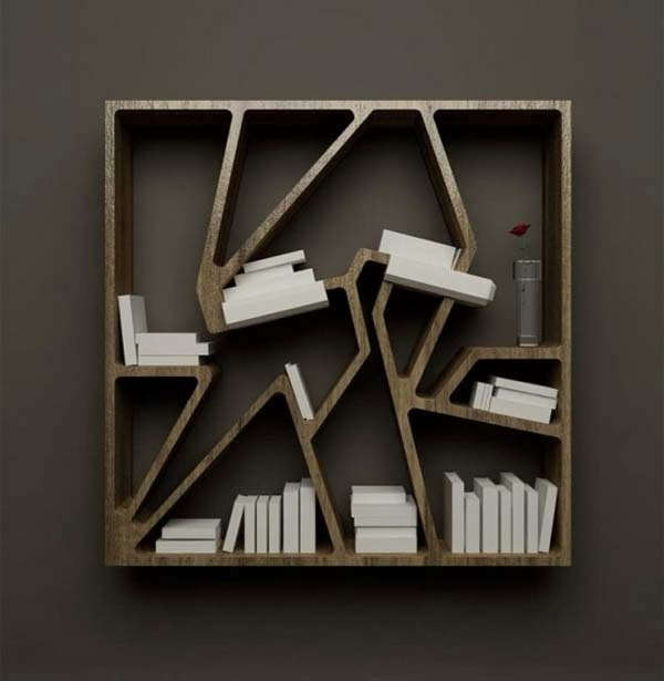 Amazing Design and Innovative Bookshelf (Home Library) - Interior .