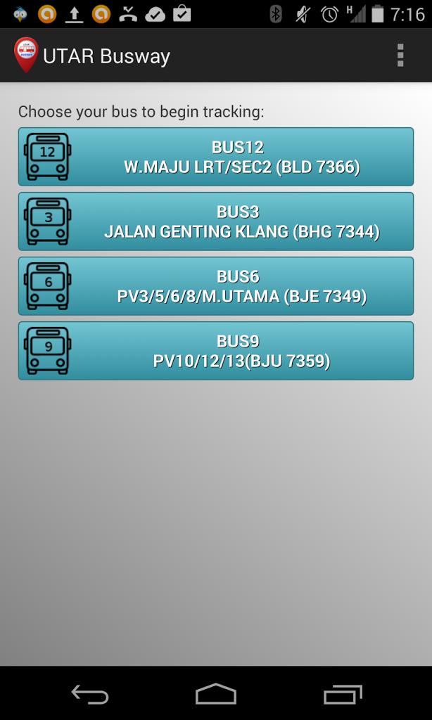 Aplikasi Busway Android