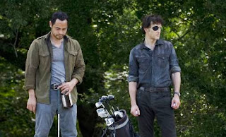 "Recap of ""Dead Weight,"" pictured, David Morrissey and Jose Pablo Cantillo in The Walking Dead"