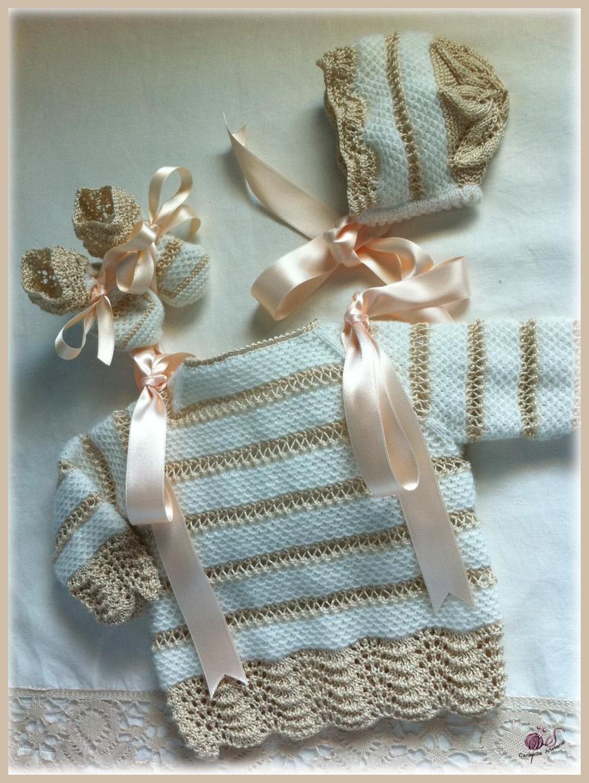 схемы вязания крестильных наборов для новорожденных