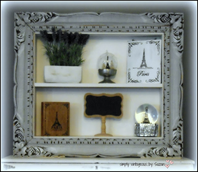 Repurposed Frame Shelf