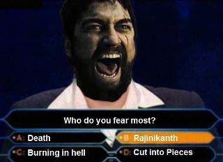 300 spartan fears Rajinikanth