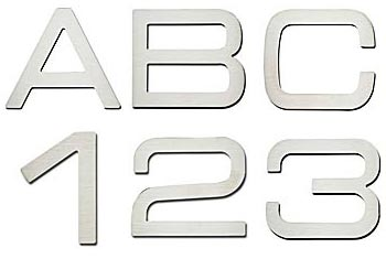 Mad For Mid Century Mid Century Modern Address Numbers