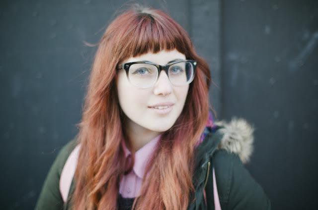 redhead, glasses, wayfarers, love, E.M. Ricchini