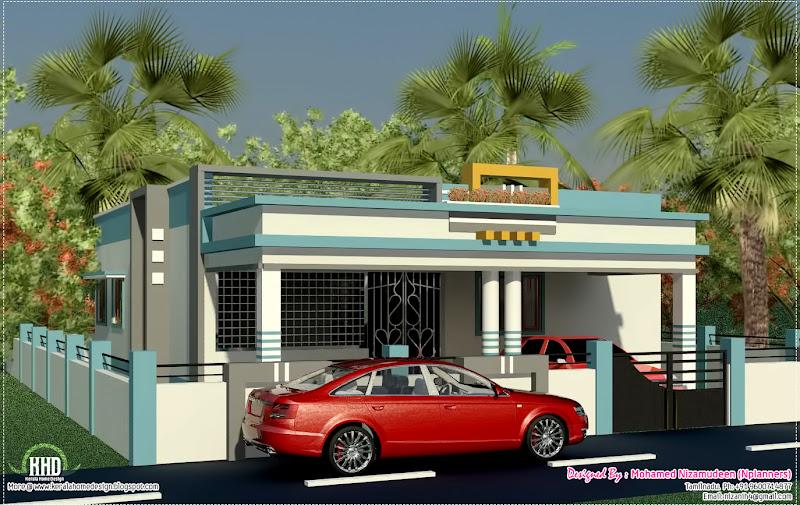 Tamilnadu style single floor home design title=