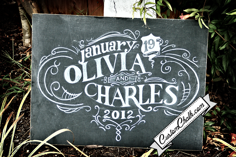 Wedding date chalk art wedding gift artwork jpg