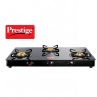 Buy Prestige 3 Burner Black Gas Stove at Rs. 2,784 :Buytoearn