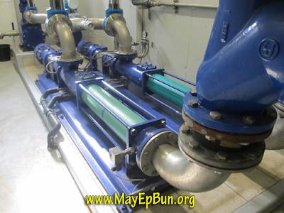 Bơm trục vít lắp cho hệ thống bơm bùn vào máy ép bùn khung bản