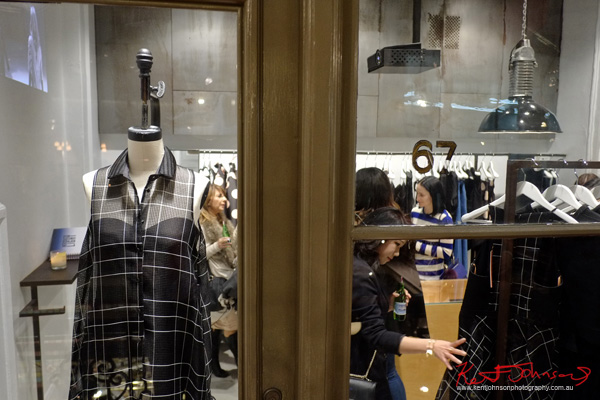 its about shopping and great clothes. The Strand Arcade, Evening with our Designers. Photography by Kent Johnson.
