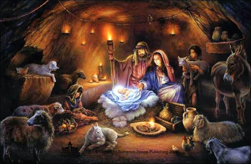 Jesus und Maria Weihnachtsbild