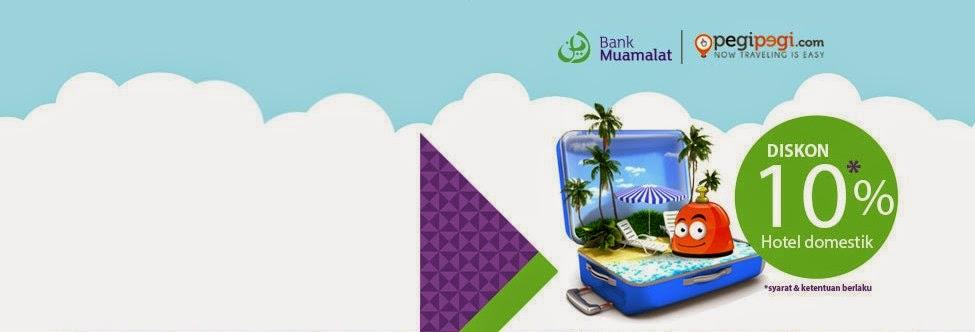 Hotel Diskon dan Mudah dari Bank Mualamat kerjasama dengan PegiPegi