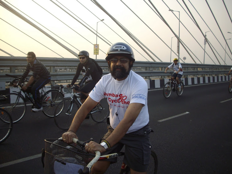 "Cycling on ""Bandra-Worli Sealink"" in ""28Kms Amateur Ride'"