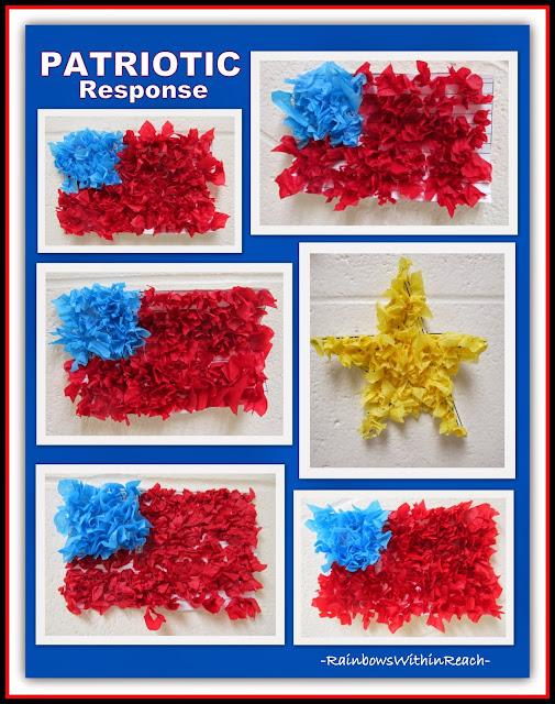Tissue Paper Flags via RainbowsWithinReach