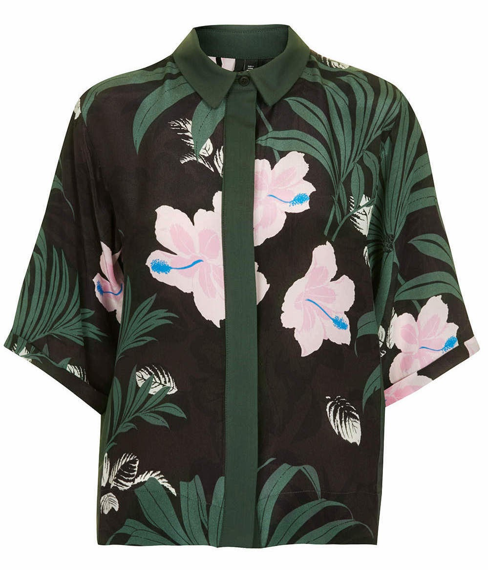 Jungle contrast shirt by Boutique and TOPSHOP