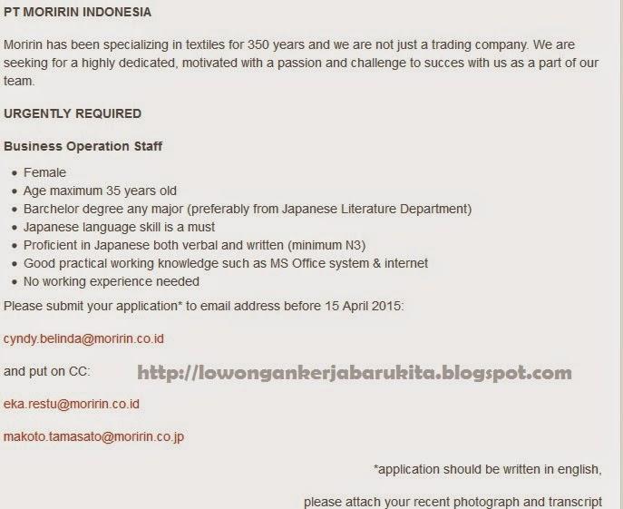 Info Lowongan Kerja Bengkulu Juli 2015
