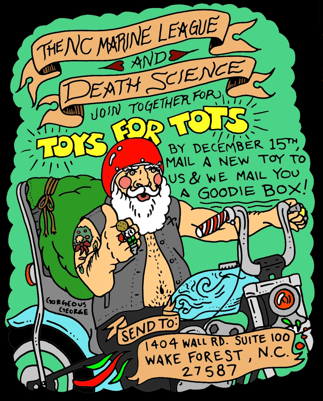 Coloring Page Toys For Tots : Death science