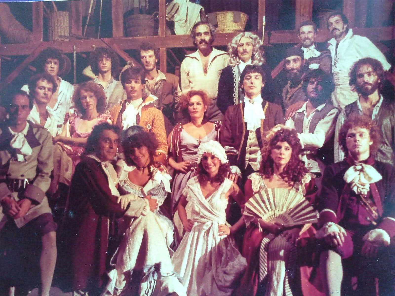 """""""La Taberna del Cuervo Blanco"""" elenco 1982"""