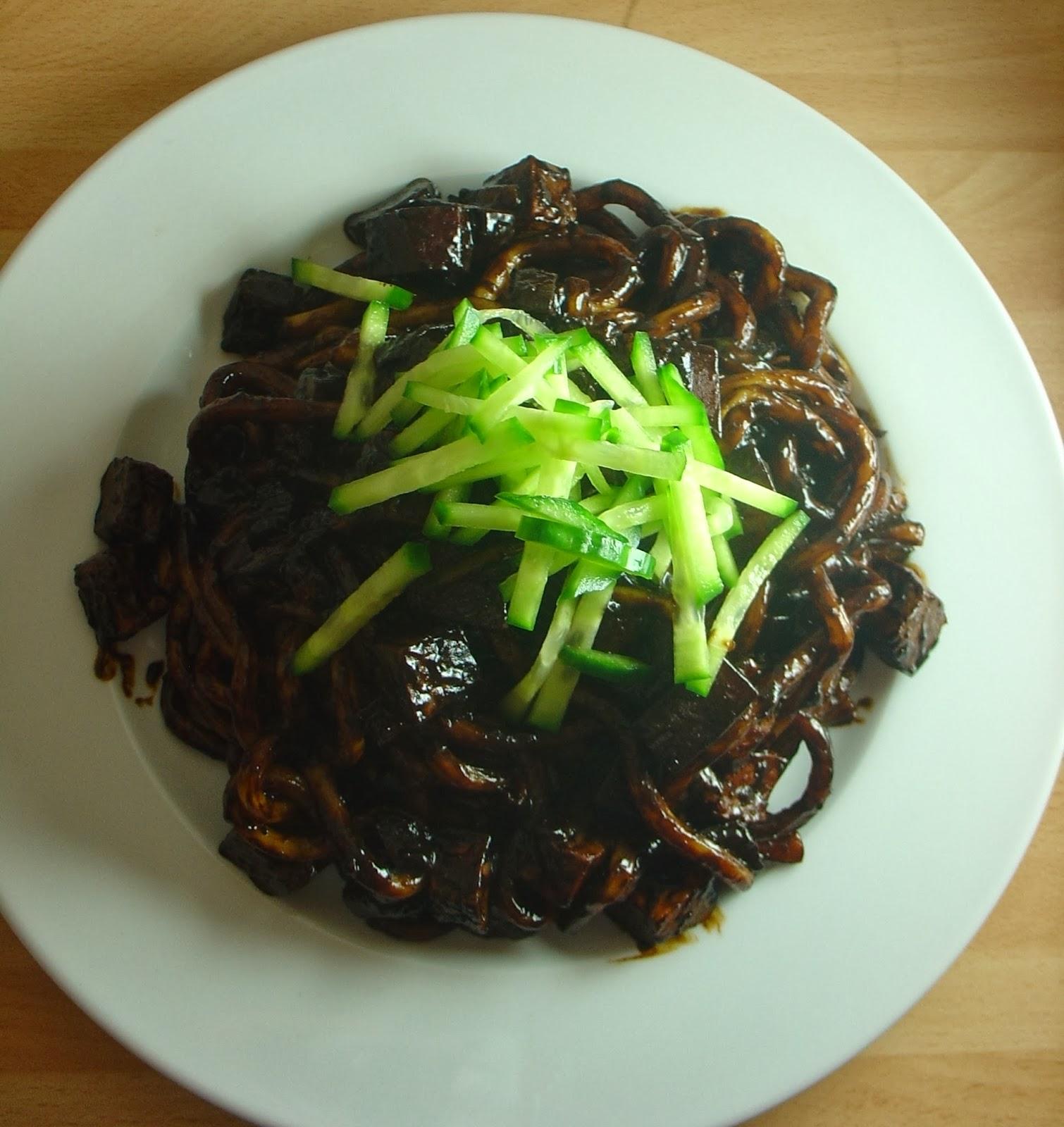 The vegan telegraph exchange jjajangmyun korean chinese black bean vegan jjajangmyeon korean chinese black bean noodles jjajangmyun forumfinder Image collections