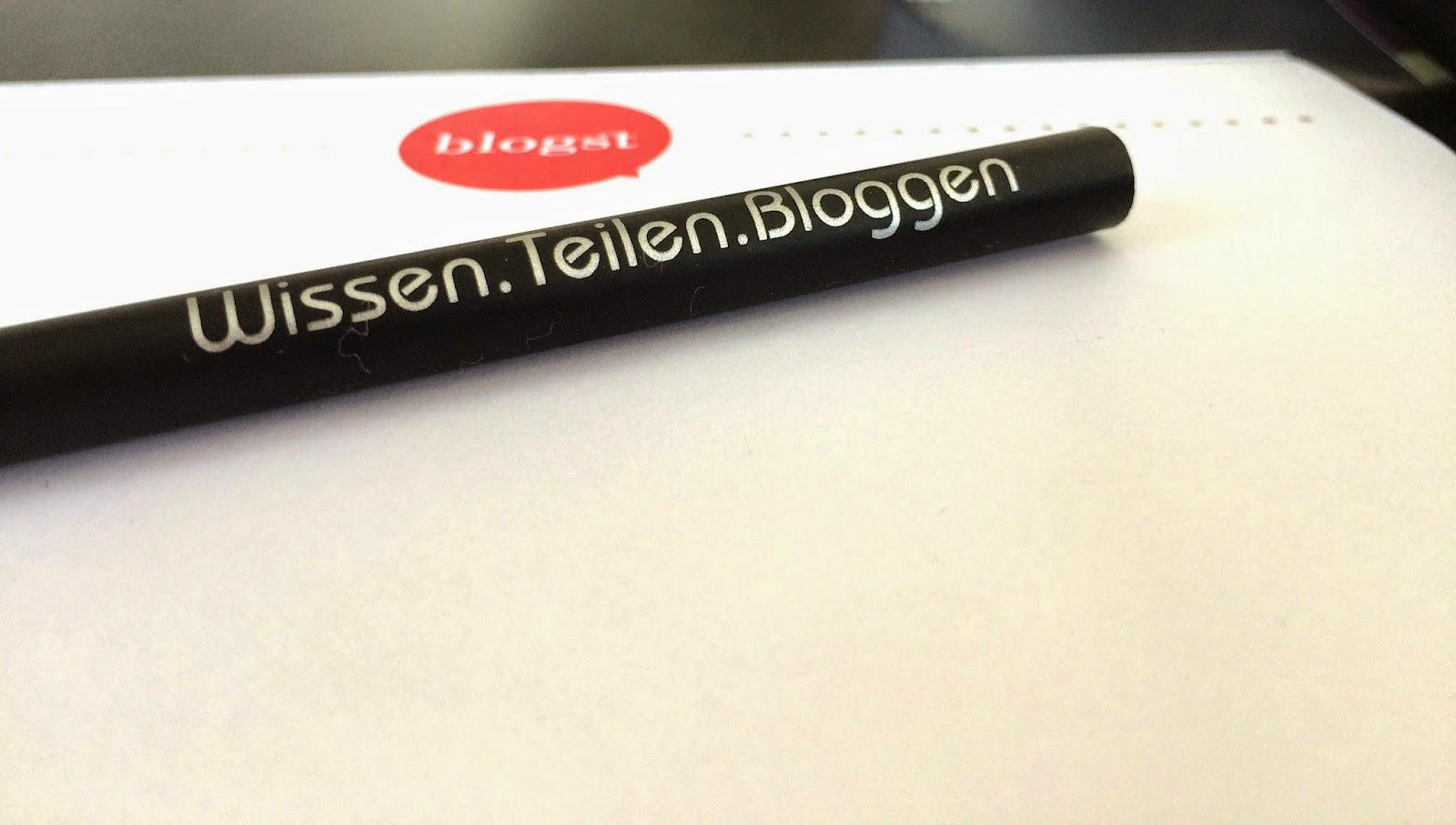 BLOGST Bleistift Wissen Teilen Bloggen
