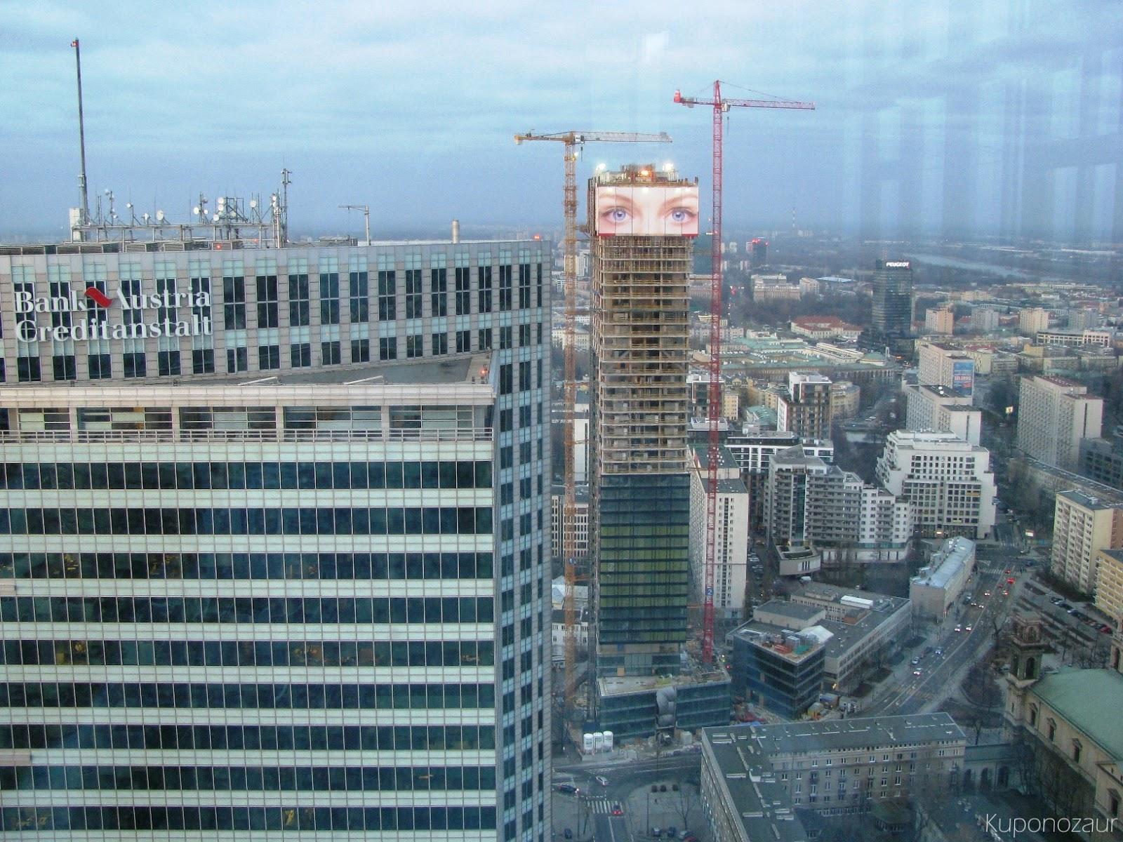InterContinental Warszawa widok na Cosmopolitan Twarda 2/4