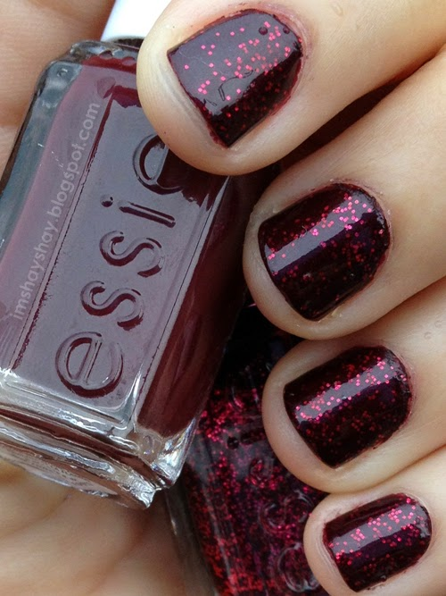 Essie Winter 2013 - Shearling Darling & Toggle To The Top | imshayshay.blogspot.com