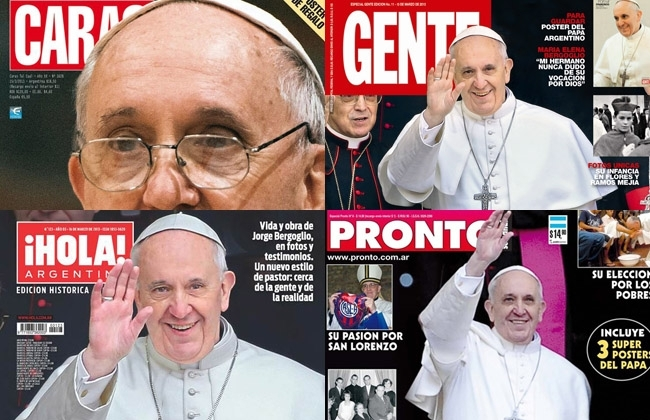 El papa argentino tapa de las revistas de espectaculos for Noticias del espectaculo internacional