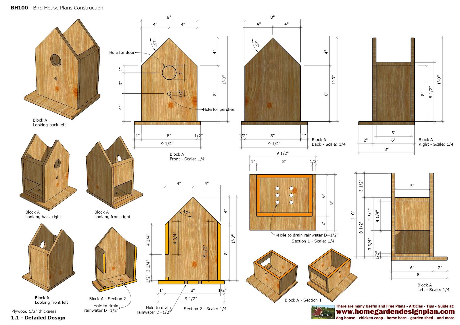 Bh Bird House Plans Construction Bird on playhouse designs and plans