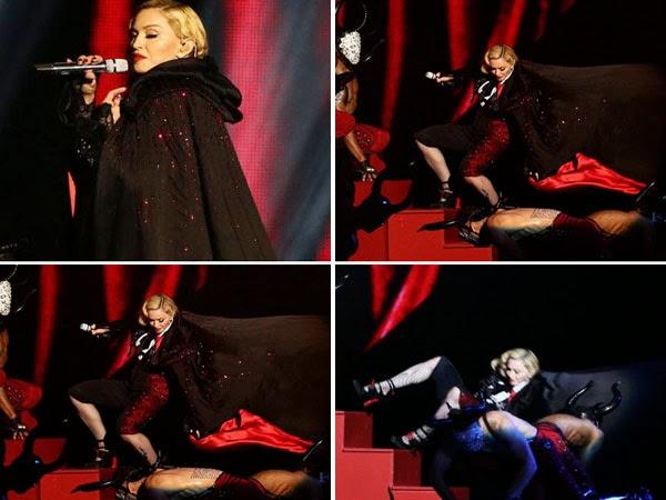 Madonna Jatuh Tergolek Semasa Persembahan