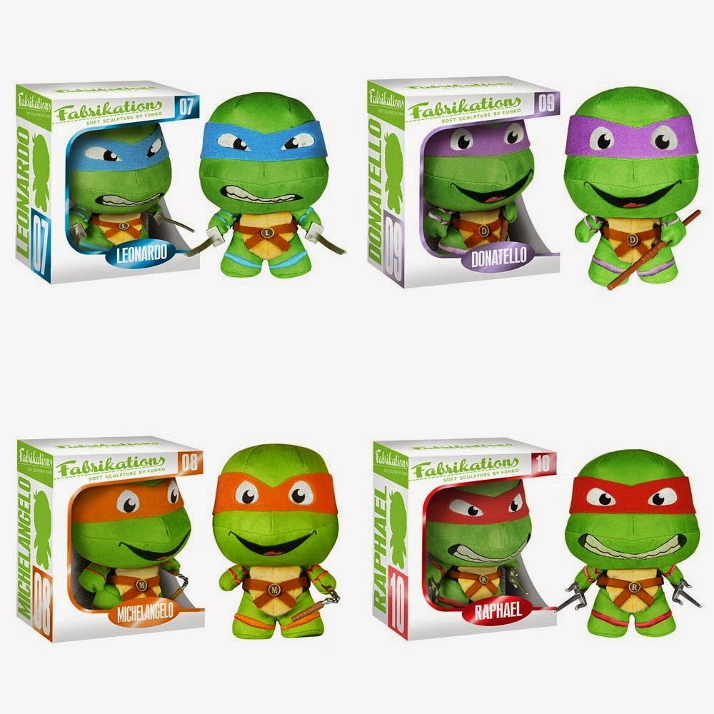 Teenage Mutant Ninja Turtles Fabrikations Plush Figures by Funko - Leonardo, Donatello, Michelangelo & Raphael