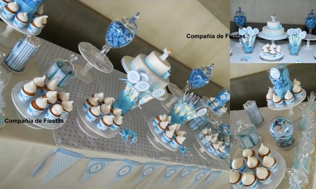 Bautismo varon decoraci n mesa imagui - Decoracion para bautismo varon ...