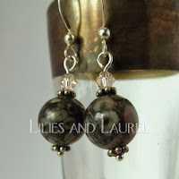 Fossilized Coral Earrings by Lilies and Laurel