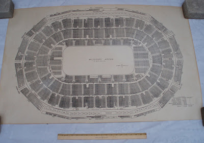 St. Louis Arena seating plan - floor plan