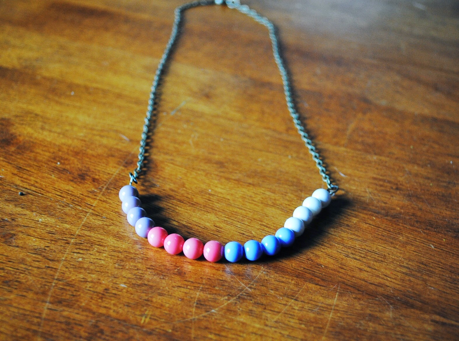 Crafting Wire: How to Make Simple Beaded Chain Necklace in 10 Minutes