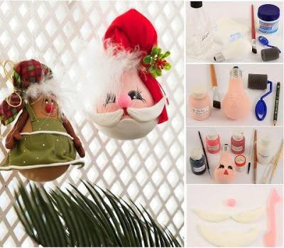 reciclagem - enfeite de natal com PAP (DIY) - lâmpada