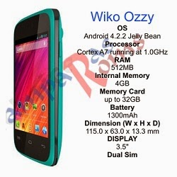 Wiko Ozzy specs and stock rom download