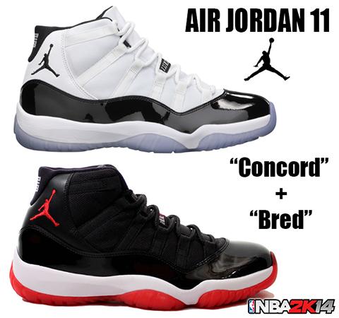NBA 2K14 Air Jordan 11 Bred & Concord
