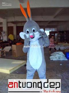 may bán mascot thỏ nâu