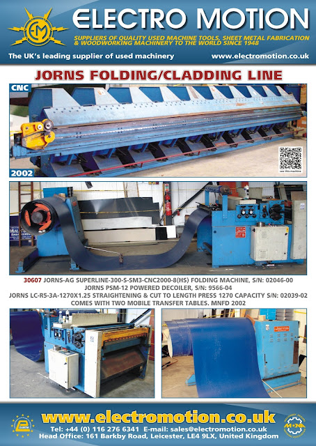 Electro Motion Jorn Folding Cladding Line