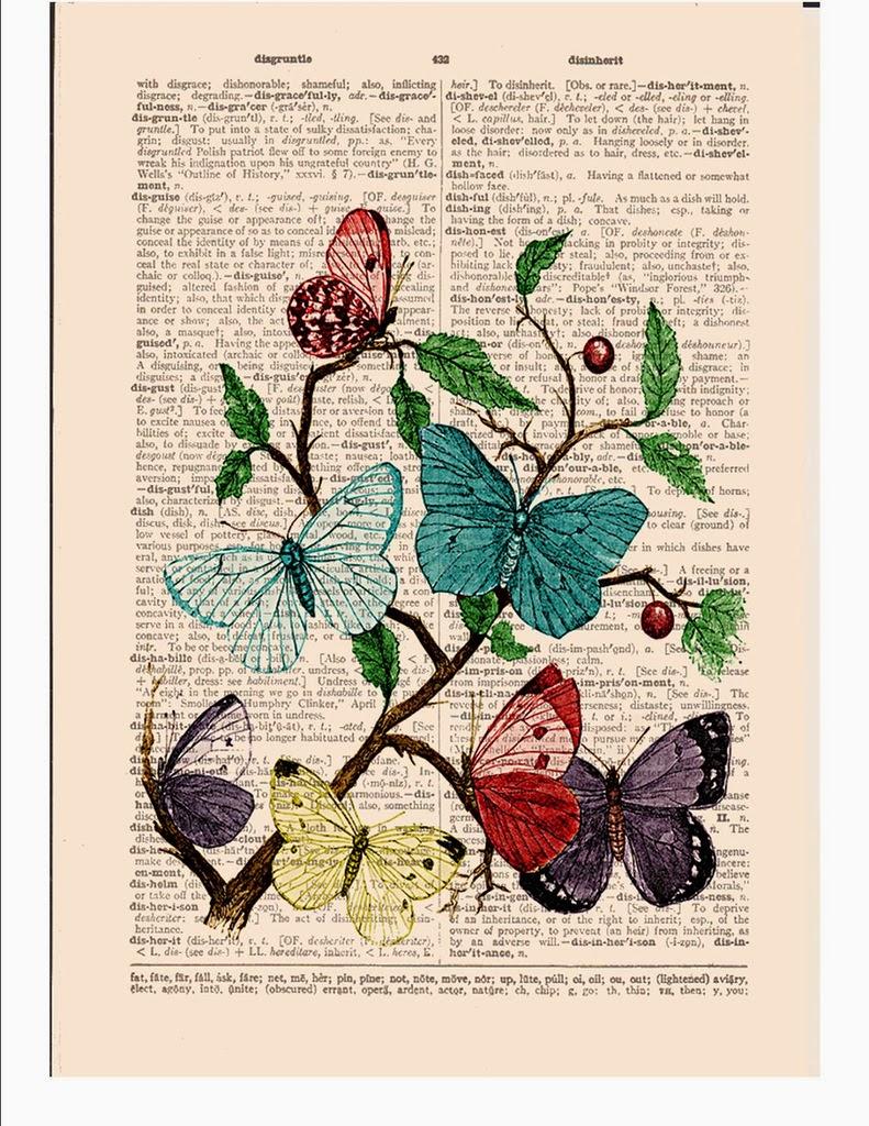 Antique dictionary art prints - Laminas antiguas para cuadros ...
