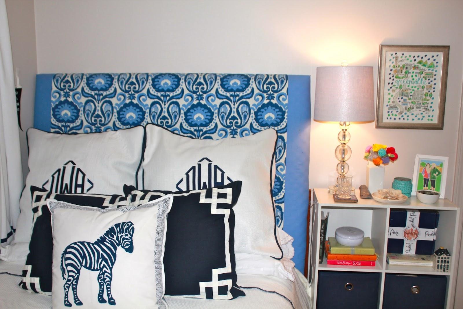 apartment bedroom tour navy light blue - Blue Apartment 2015