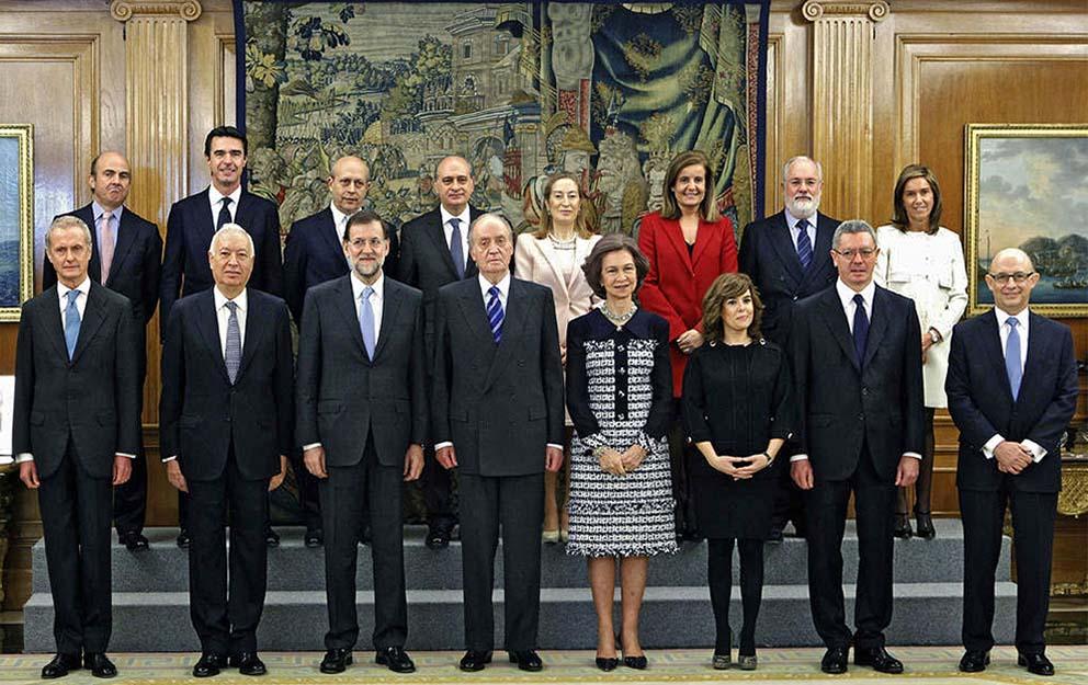 Virado en sepia imagen oficial de los nuevos ministros for Ministros del gobierno