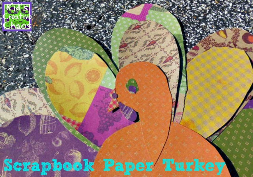 How to Make a Paper Turkey Craft with Scrapbook Paper