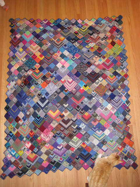 Free Knitting Pattern Mitered Afghan : Serenity Knits: Magical Miters