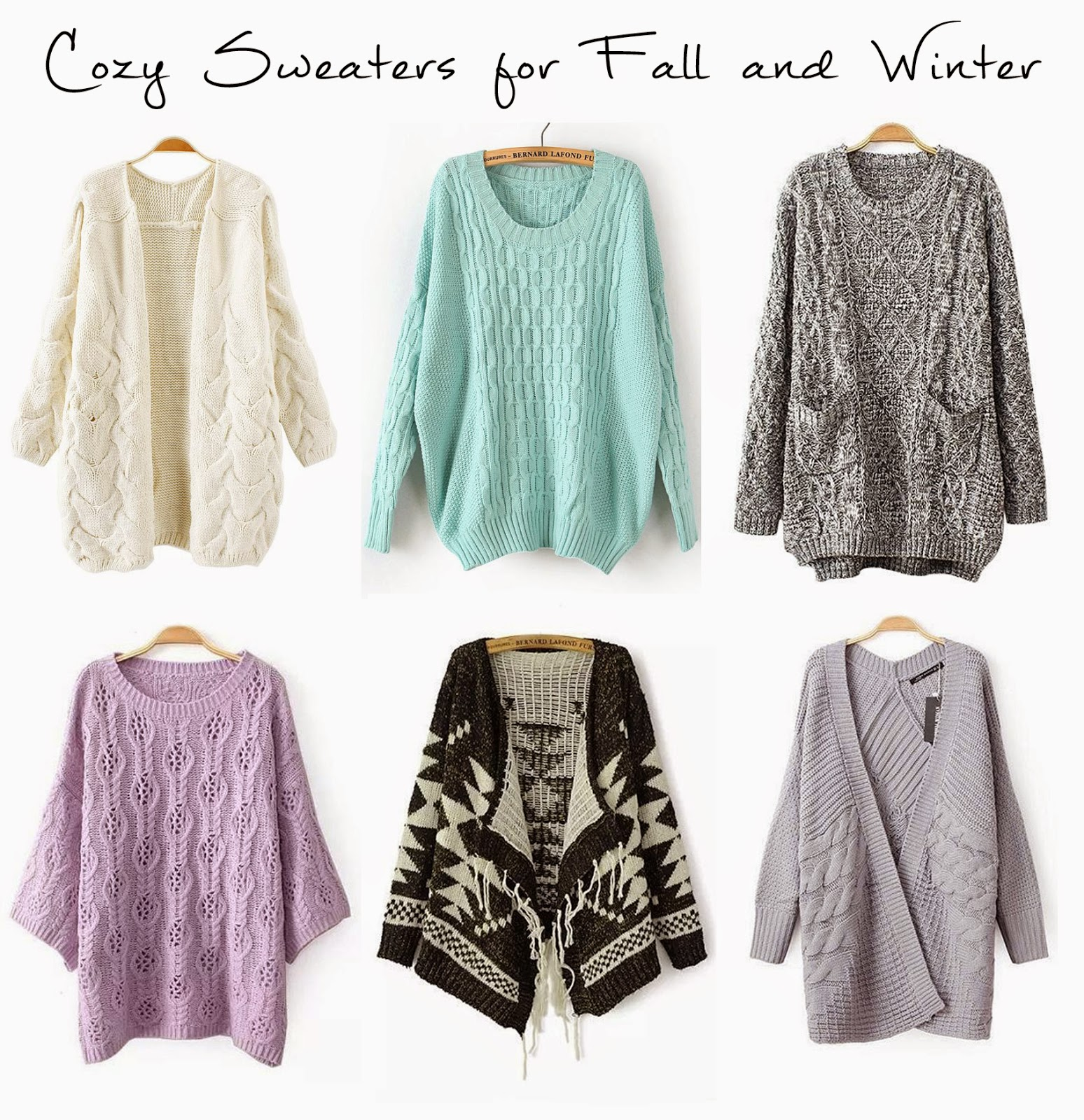 Lily The Wandering Gypsy: Sweaters for Fall and Winter!!