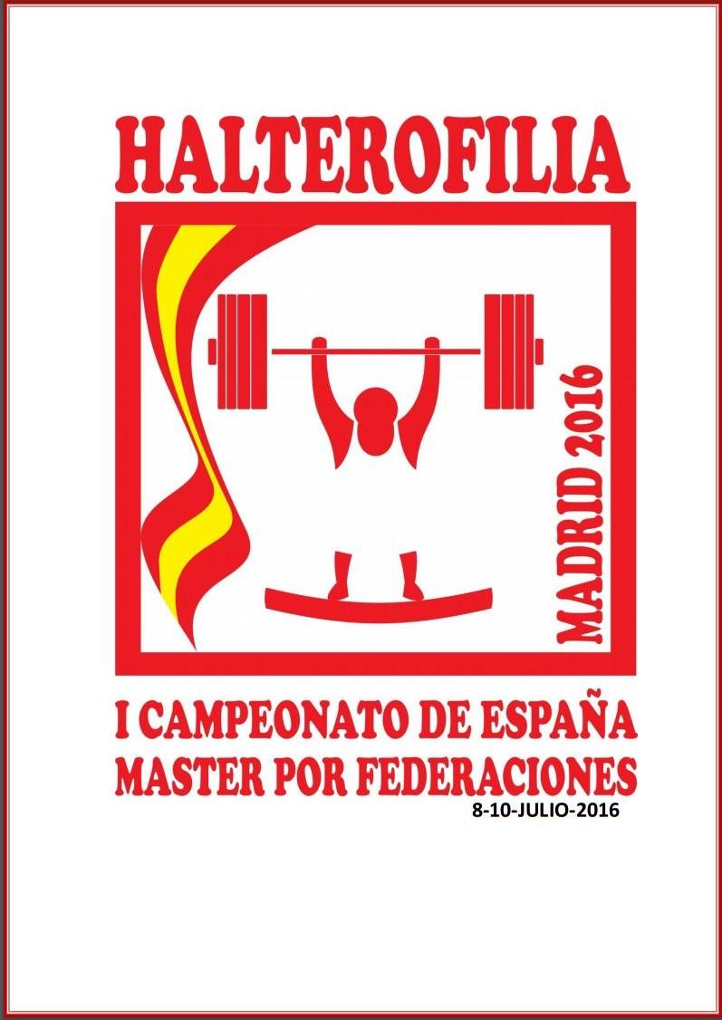 I Cto. España Federaciones Halterofilia Máster: